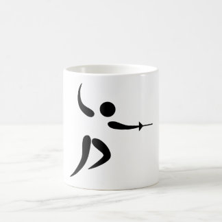 Competitive and Olympic Fencing Pictogram Coffee Mug