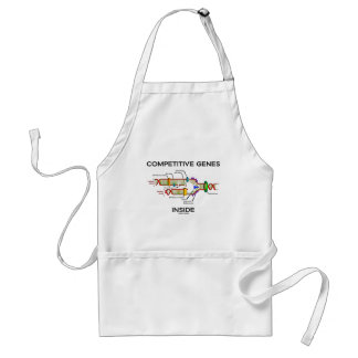 Competitive Genes Inside DNA Replication Apron