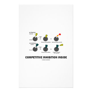 Competitive Inhibition Inside (Enzyme Kinetics) Customized Stationery