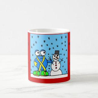 """Comphy Critterz 'snowman mug"""" Basic White Mug"""