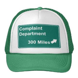 Complaint Department 300 Miles Mesh Hat