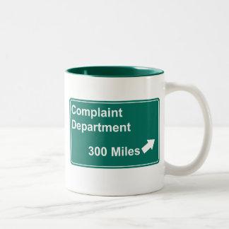 Complaint Department 300 Miles Mug