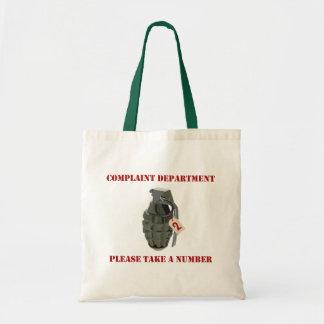 Complaint Department Bags