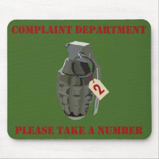 Complaint Department Green Mouse Mat