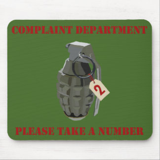 Complaint Department Green Mouse Pad