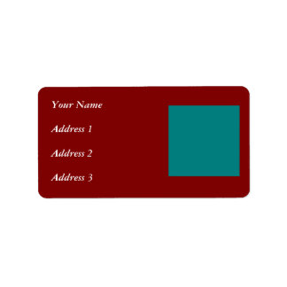 Complementary Two Color Combination / Mix Address Label