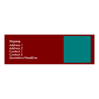 Complementary Two Color Combination / Mix Pack Of Skinny Business Cards