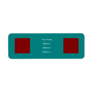 Complementary Two Color Combination / Mix Return Address Label