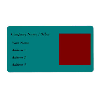 Complementary Two Color Combination / Mix Shipping Label