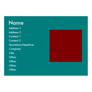 Complementary Two Color Combination / Mix Pack Of Chubby Business Cards