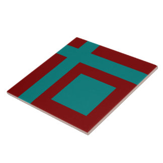 Complementary Two Color Combination / Mix Large Square Tile