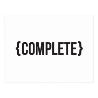 Complete  - Bracketed - Black and White Postcard