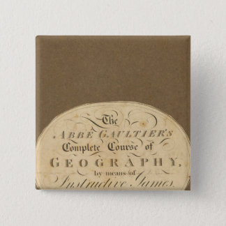Complete course of geography 15 cm square badge