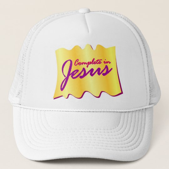 Complete in Jesus christian design Cap