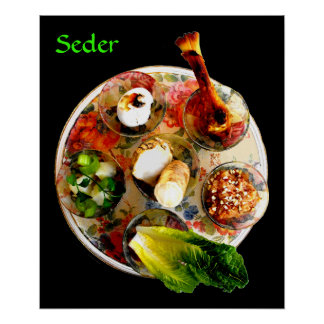 Complete Seder Plate Poster