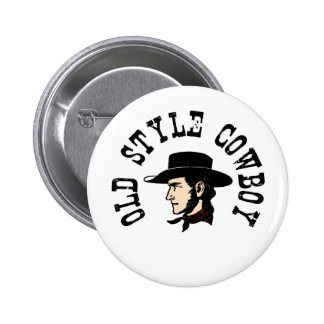 Complete with black hat: Vintage old style Cowboy 6 Cm Round Badge
