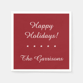 Completely customizable Holidays paper napkins