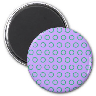 completely many dab score dabbed polka sample DOT 6 Cm Round Magnet