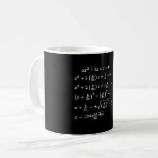 Completing the Square on Chalkboard Coffee Mug