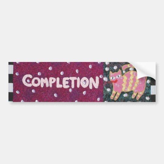 Completion Bumper Sticker