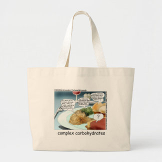Complex Carbohydrates Funny Mugs Cards Tees Etc Jumbo Tote Bag