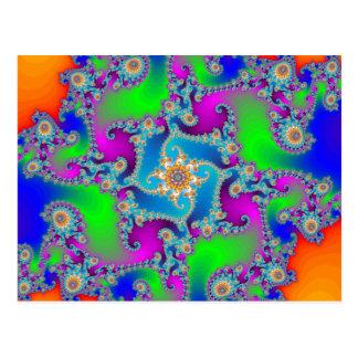 Complex Fractal Pattern Postcard