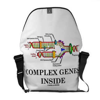 Complex Genes Inside (DNA Replication) Courier Bags