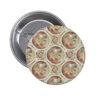 Complex geometric pattern 6 cm round badge