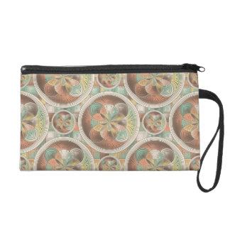 Complex geometric pattern wristlet purses