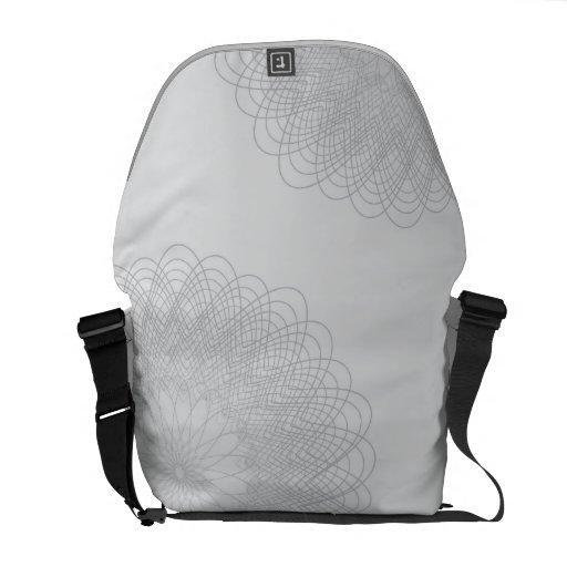 Complex Guilloche Flower pattern light Courier Bags