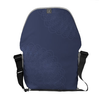 Complex Guilloche Flower patterns blues Messenger Bags