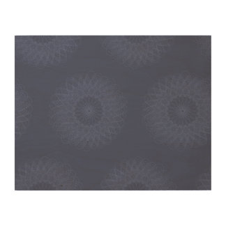Complex Guilloche Flower patterns blues Wood Canvases