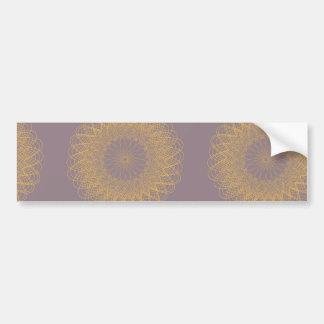Complex Guilloche Flower pink yellow Bumper Stickers