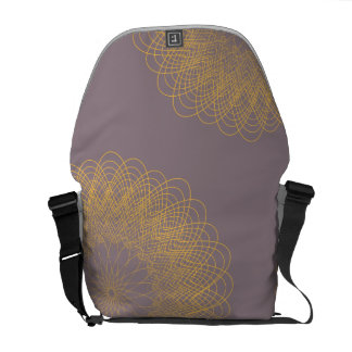 Complex Guilloche Flower pink yellow Courier Bags