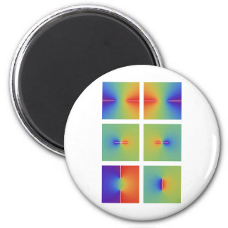 Complex inverse trigonometric functions 6 cm round magnet
