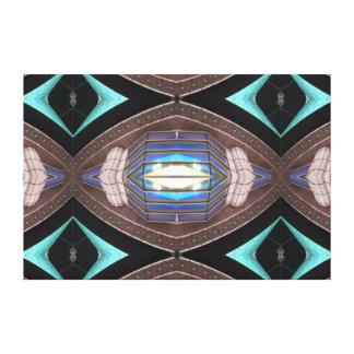 Complex Modern Art Decor Turquoise Aqua Stretched Canvas Print