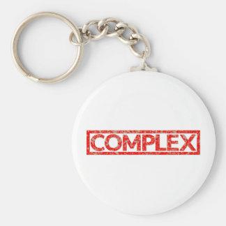 Complex Stamp Basic Round Button Key Ring