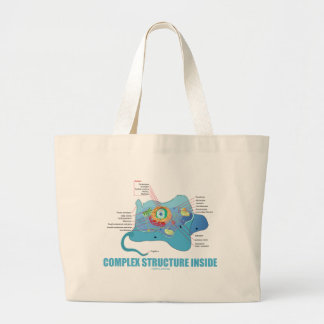 Complex Structure Inside (Eukaryotic Cell) Jumbo Tote Bag
