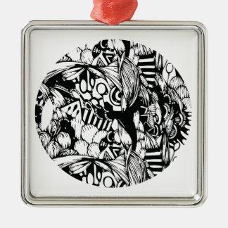 Complexity Silver-Colored Square Decoration