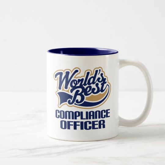 Compliance Officer Gift (Worlds Best) Two-Tone Coffee Mug