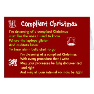 Compliant Christmas Funny Auditing Song Parody