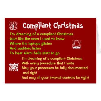 Compliant Christmas White Christmas Lyrics Parody Greeting Card
