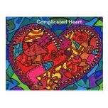 Complicated Heart Postcard