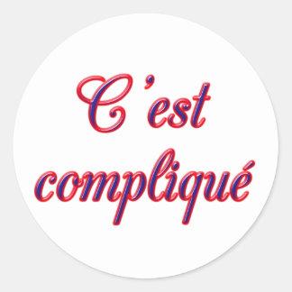 Complicated Round Sticker