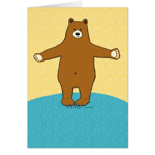 Complimentary Bear Hug Get Well Soon Card