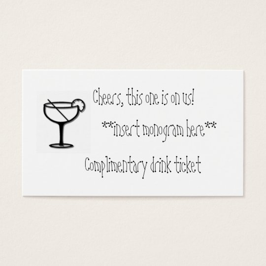Complimentary drink ticket