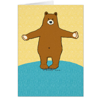 Complimentary Friendship Bear Hug Greeting Card