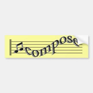 Compose Music Bumper Sticker