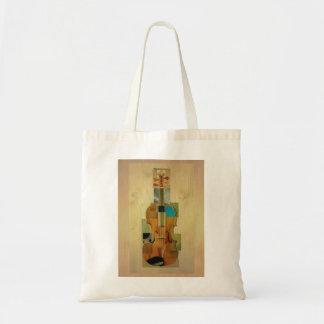 Composed Violin Budget Tote Bag