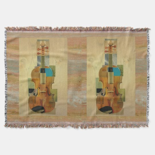Composed Violin Duo Throw Blanket